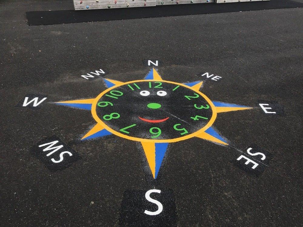 Smiley-Face-Clock-Compass