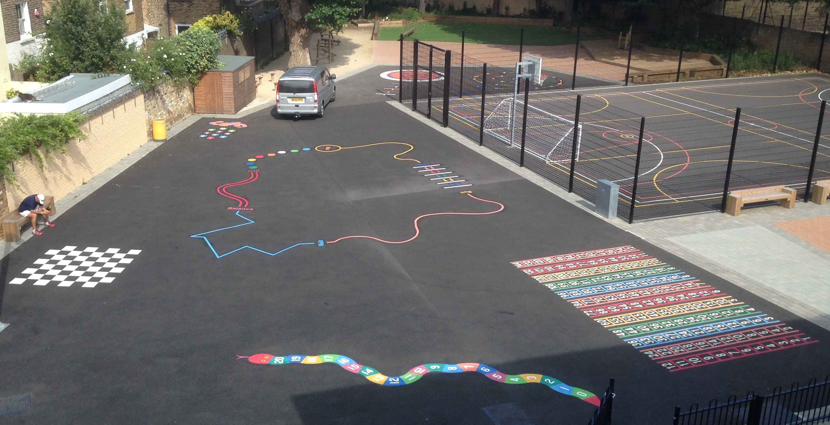 Playground markings installed at Arc Priory School - London