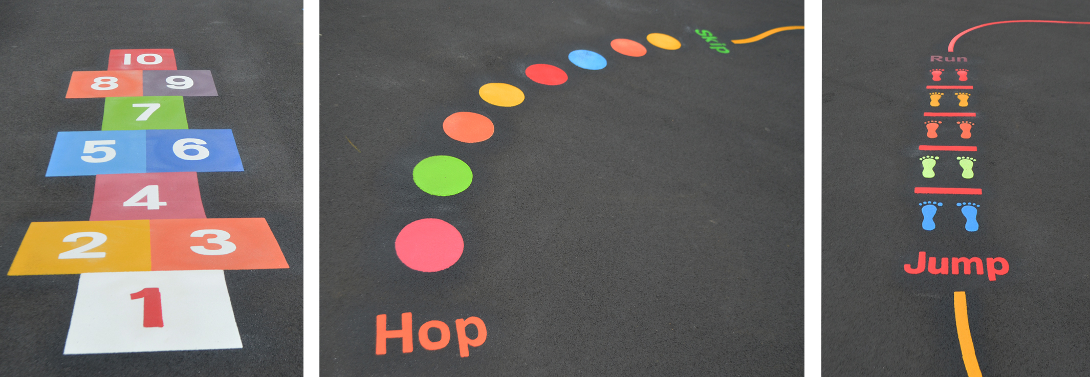 Playground markings Hopscotch, Activity trail
