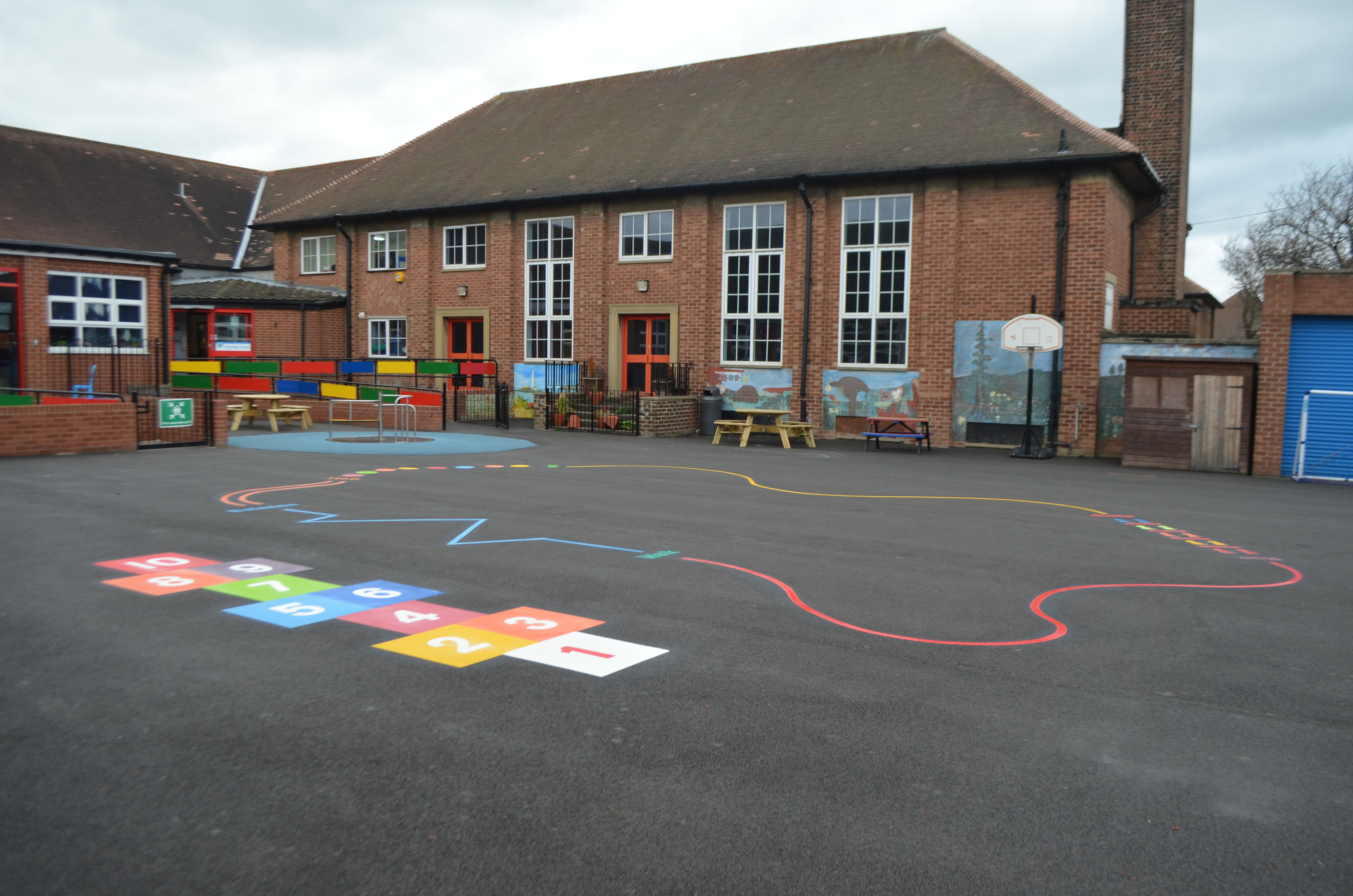 playground markings -activity trail- hopscotch-woodlawn-school - newcastle