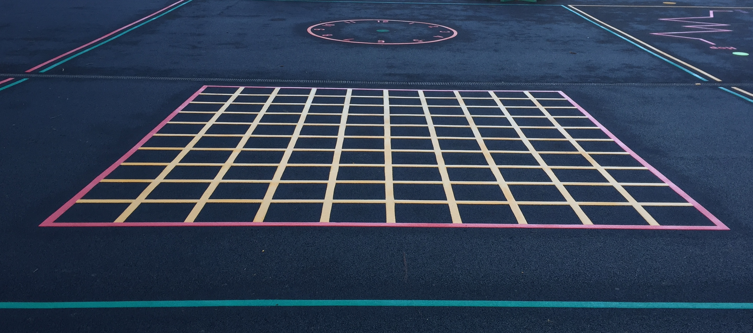 Playground Markings In Gosforth Newcastle Upon Tyne