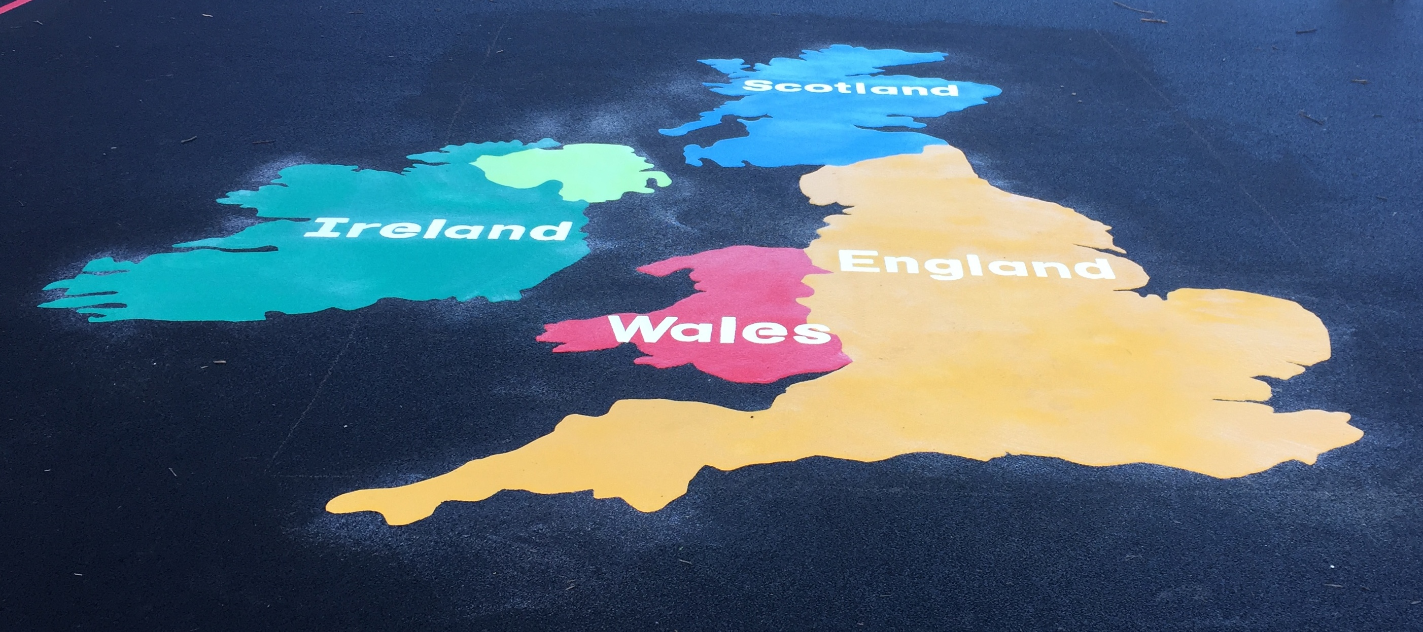Playground Markings UK Map