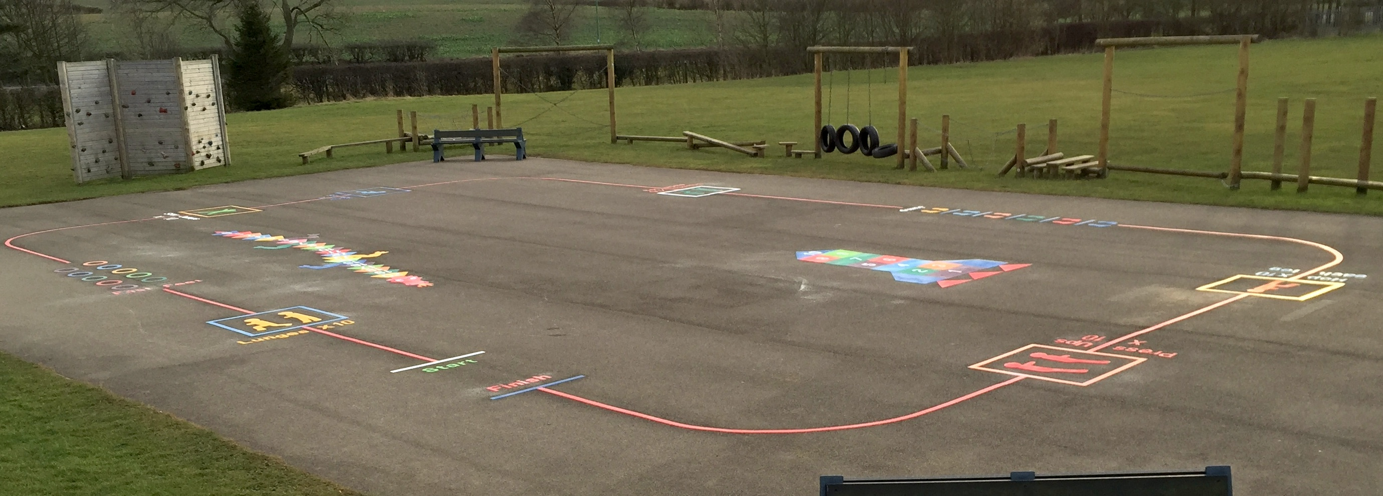 Playground exercise trail