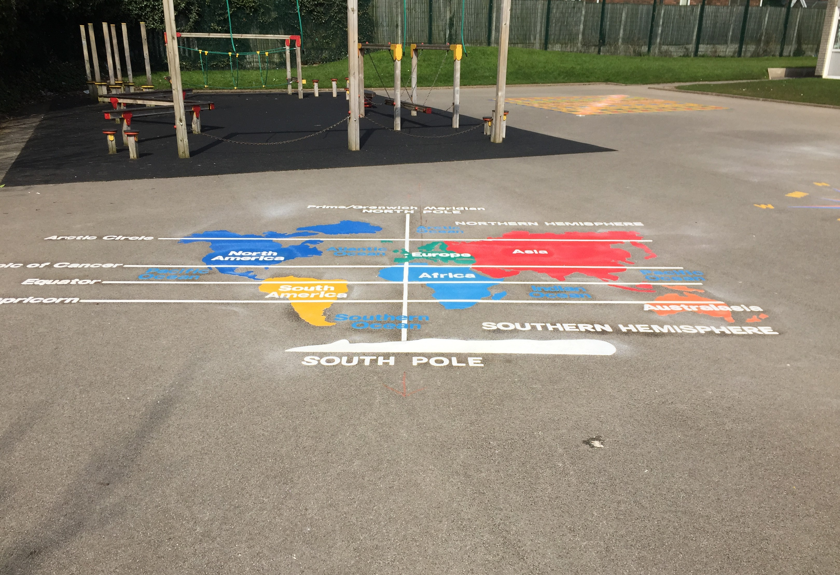 Playground markings new geography curriculum first4playgrounds key stage 2 world map gumiabroncs Choice Image
