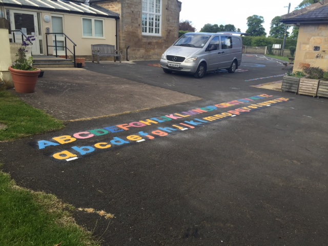 Alphabet playground markings