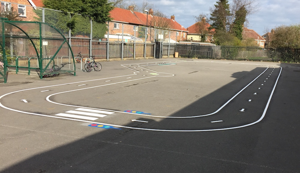 Bike track at Grange Park Primary School Sunderland