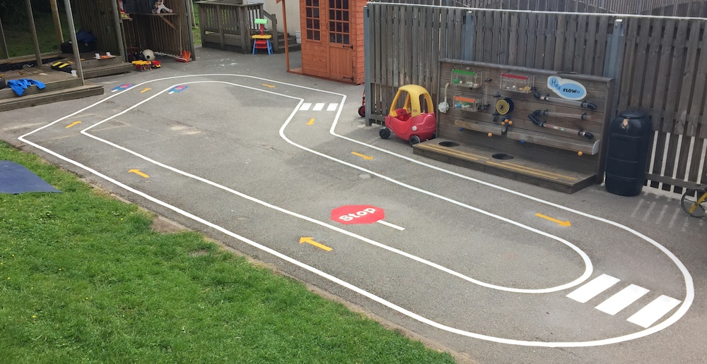Cart track at Feversham Nursery School, Bradford
