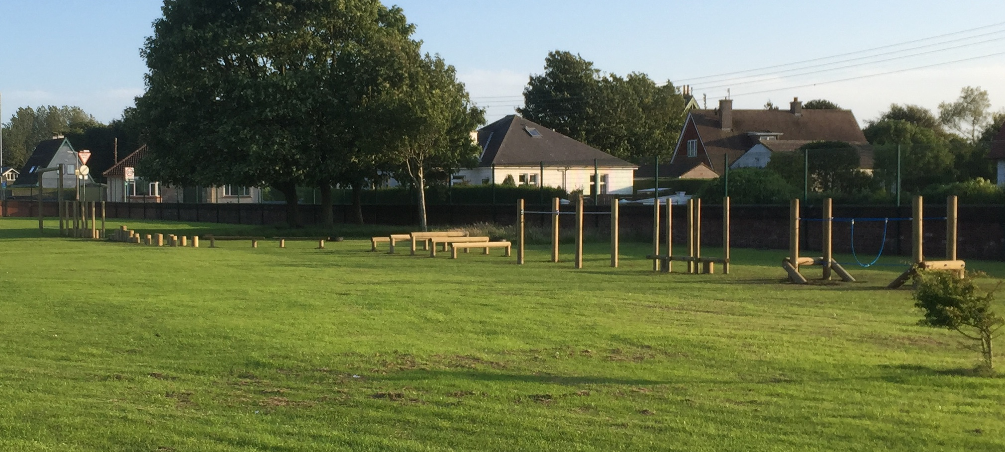 Trim trail playground equipment installed by first4playgrounds in Stranraer, Scotland