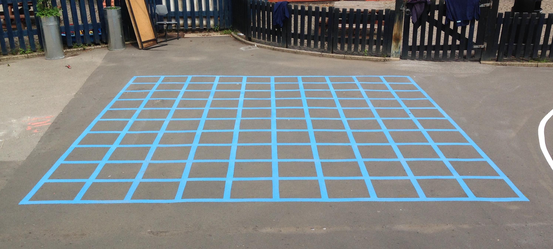 10x10 Grid Blue