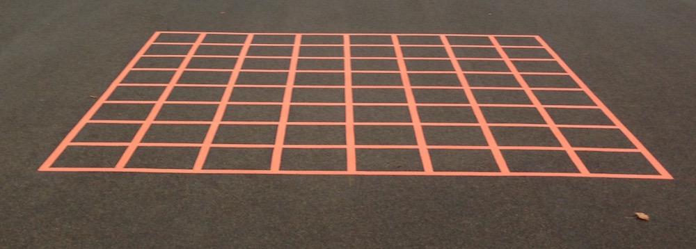 Orange 8 x 8 Grid