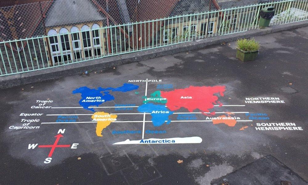 Key stage 2 world map at st marys primary school bristol world map st marys bristol gumiabroncs Choice Image
