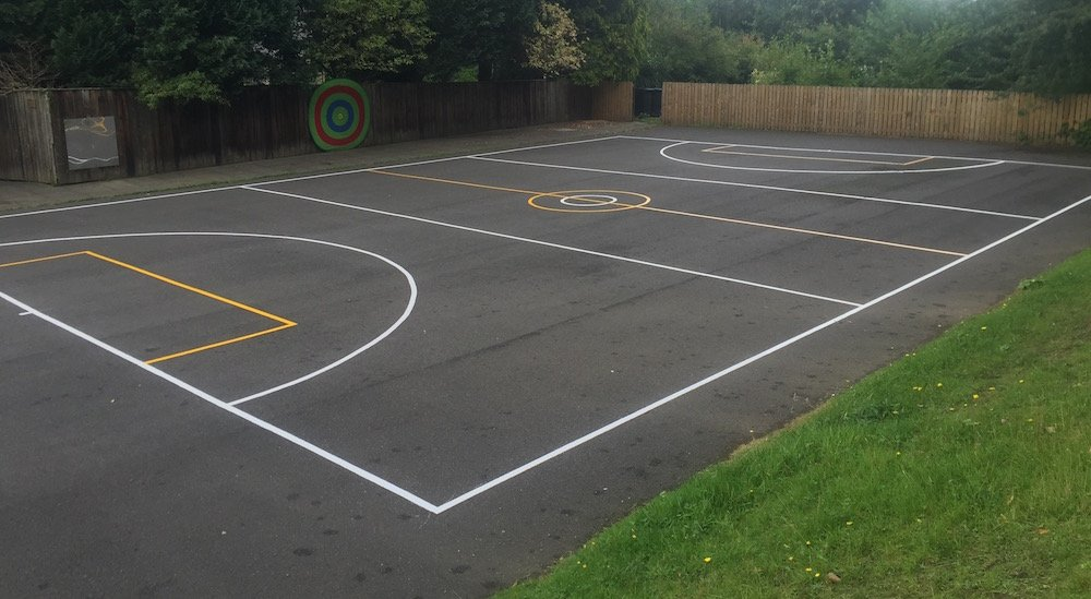 Thermoplastic Playground Markings At A Primary School In