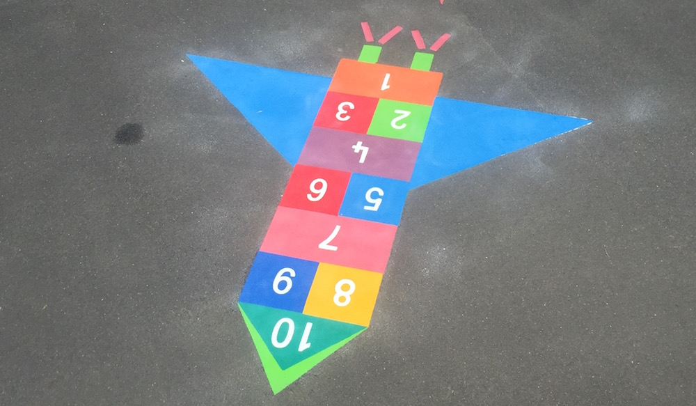 Playground Rocket Hopscotch