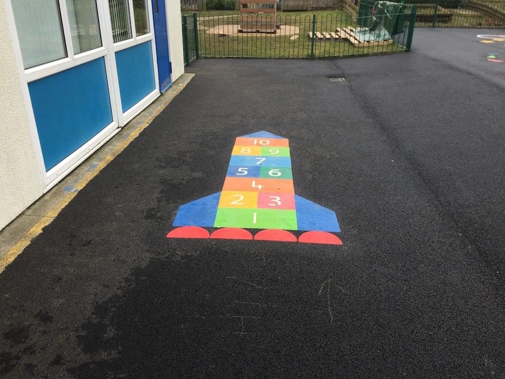 Rocket Hopscotch; Hetton Primary school