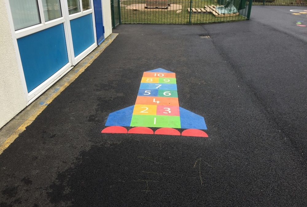 Thermoplastic Playground Markings at Hetton Primary School
