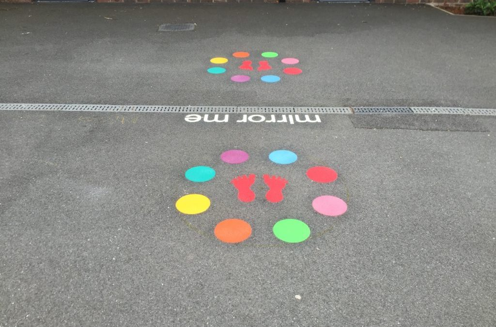 Thermoplastic Playground Markings at a Primary School in London