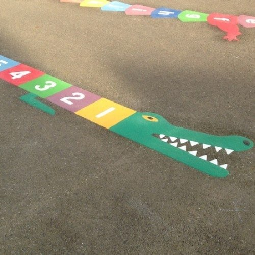 Playground Markings - Numeracy and Literacy - 1-10 Crocodile On Site