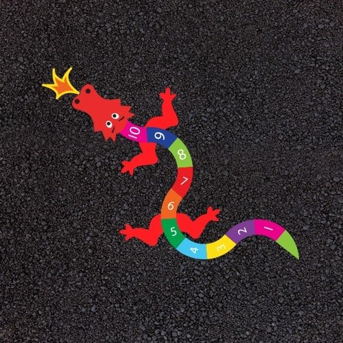 Playground Markings - Numeracy and Literacy - 1-10 Dragon Example