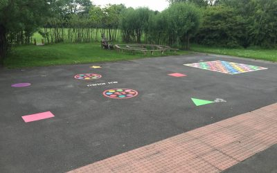 Thermoplastic Playground Markings at Regent Farm Primary in Newcastle Upon Tyne