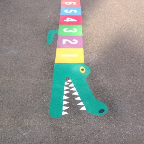 1-25 Crocodile at Long Whittenham Pre-school