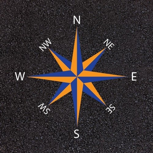 Playground Markings - Maps and Compasses - Rose Compass Example