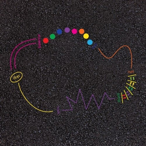 Playground Markings - Circuits Tracks and Trails - 30m Activity Trail Example