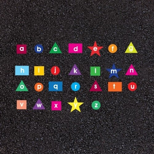Playground Markings - Numeracy and Literacy - Alphabet Shapes Example