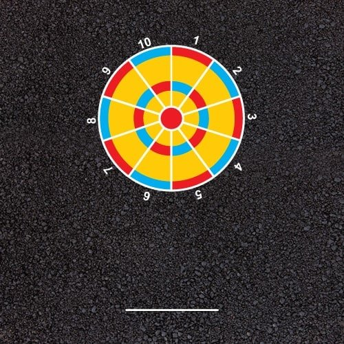 Playground Markings - Targets and Mazes - Beanbag Target Example