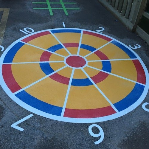 Playground Markings - Targets and Mazes - Beanbag Target On Site