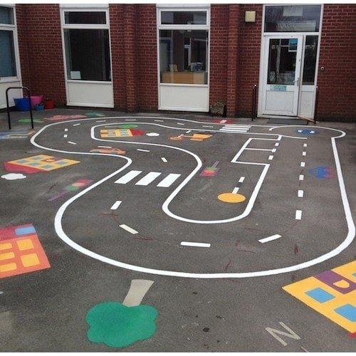 Playground Markings - Circuits Tracks and Trails - Cycle Track On Site