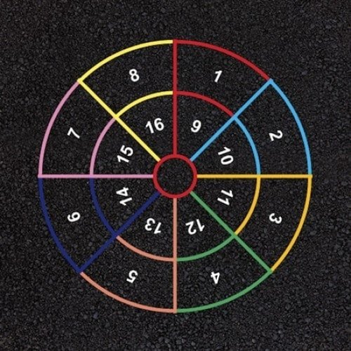Playground Markings - Maps and Compasses - Bullseye Target Example