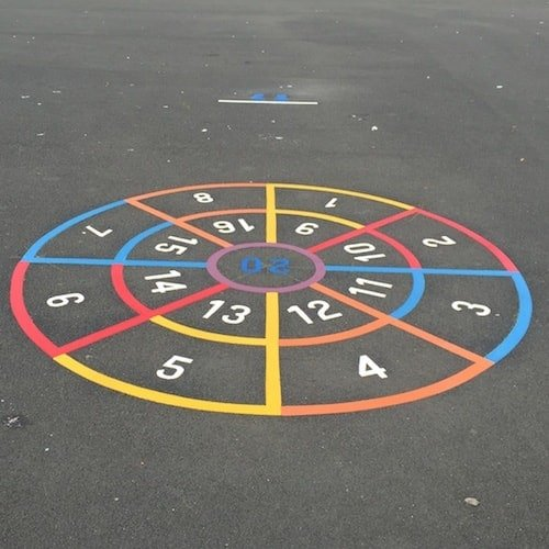 Playground Markings - Maps and Compasses - Bullseye Target On Site
