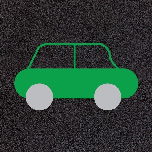 Playground Markings - Circuits Tracks and Trails - Green Car Example