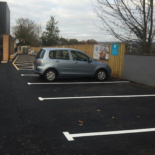 Playground Markings - Road Markings - Car Parking Bay On Site At Hexham