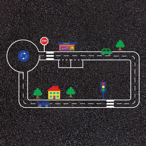 Playground Markings - Circuits Tracks and Trails - Cycle Track Example