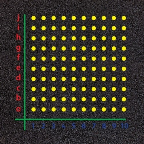 Playground Markings - Board Games and Grids - Coordinate Grid Dots Example