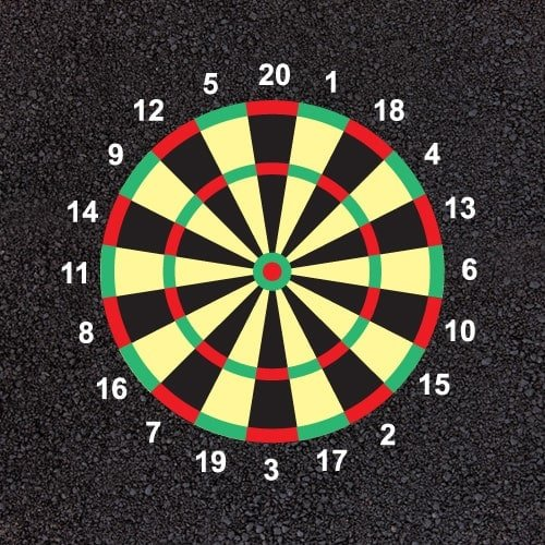 Playground Markings - Targets and Mazes - Dartboard Example