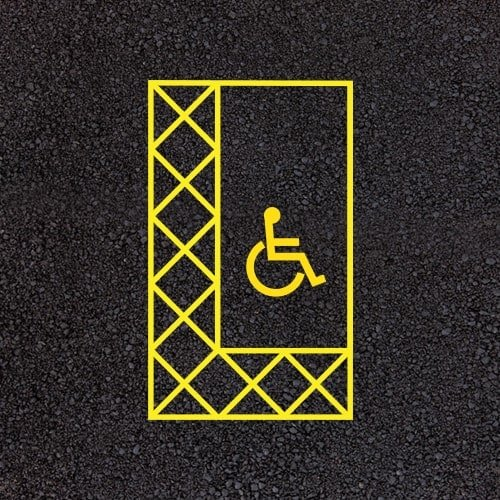 Playground Markings - Road Markings - Disabled Parking Bay Example