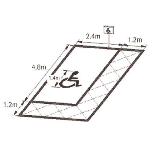 Playground Markings - Road Markings - Disabled Parking Bay Detailed Plan
