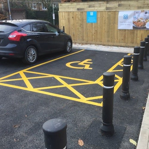 Playground Markings - Road Markings - Disabled Parking Bay On Site Hexham