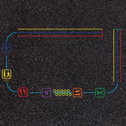 Playground Markings - Circuits Tracks and Trails - Fitness Trail Example