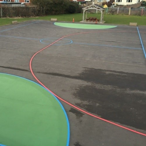 Playground Markings - Sports Pitches - Football Pitch With Painted Goal Area