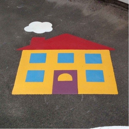 Playground Markings - Circuits Tracks and Trails - House On Site