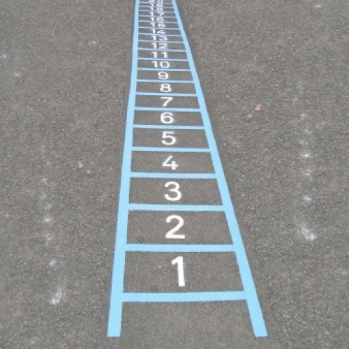 Playground Markings - Board Games and Grids - Table Ladder On Site