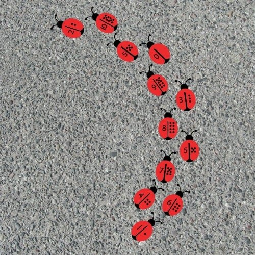 Playground Markings - Numeracy and Literacy - Ladybird Counting Example
