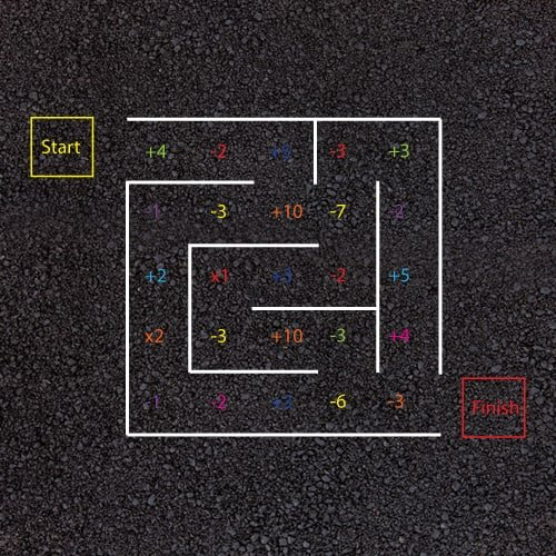 Playground Markings - Numeracy and Literacy - Maths Maze Example