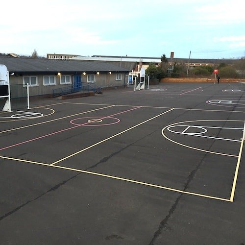 Playground Markings - Sports Pitches - Multi-Court On Site
