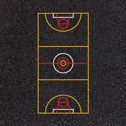 Playground Markings - Sports Pitches - Multi-Court Example