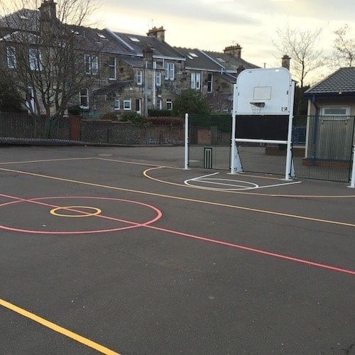 Playground Markings - Sports Pitches - Multi-Court With Goal End