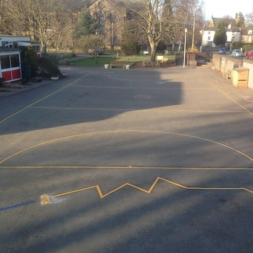 Playground Markings - Sports Pitches - Netball Court On Site